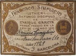 simplicio-1929-label